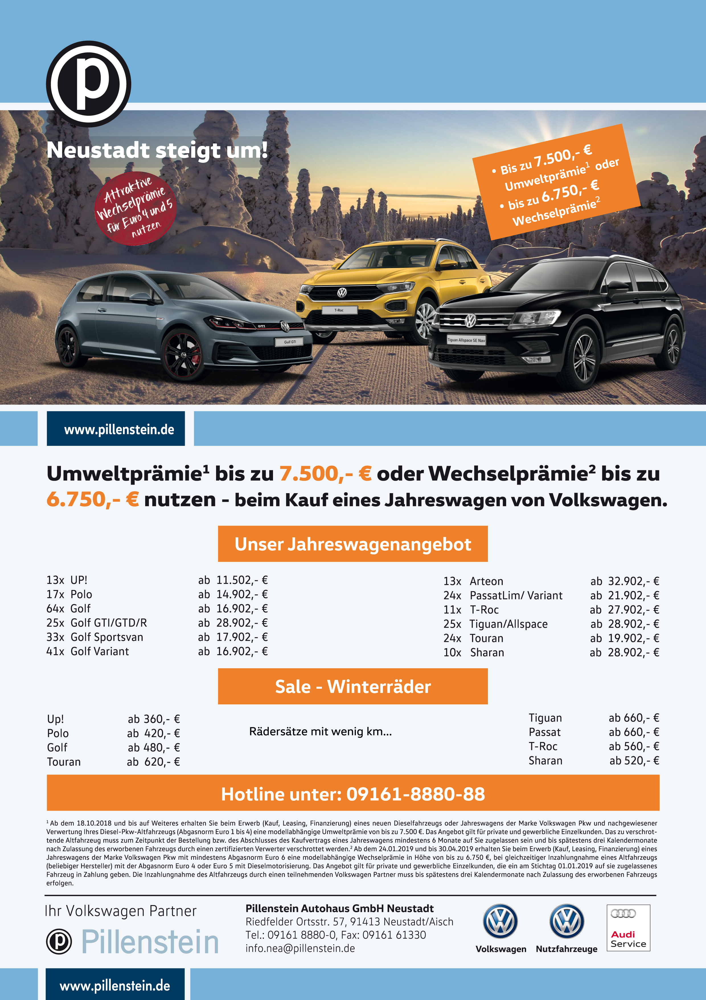 vw neu gebrauchtwagen autohaus pillenstein. Black Bedroom Furniture Sets. Home Design Ideas